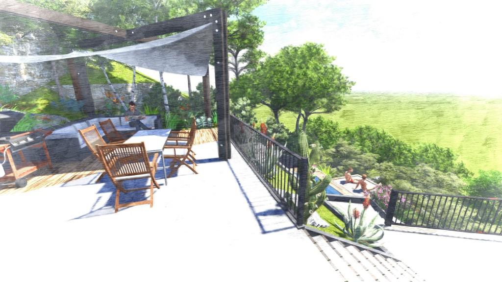 Réalisation de la terrasse - Jardin