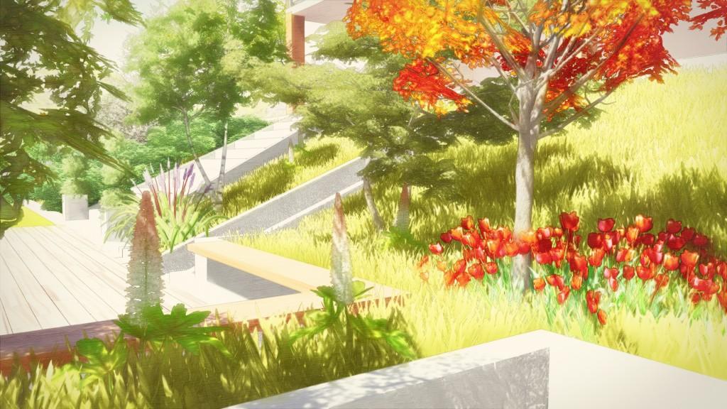 Aménagement du talus et de la terrasse
