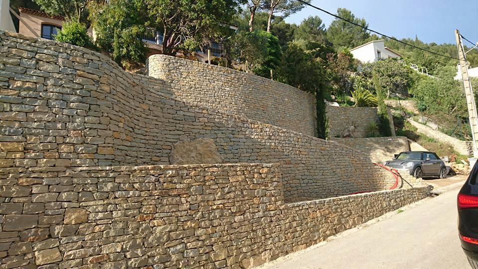 Murs en pierres sèches - Jardin