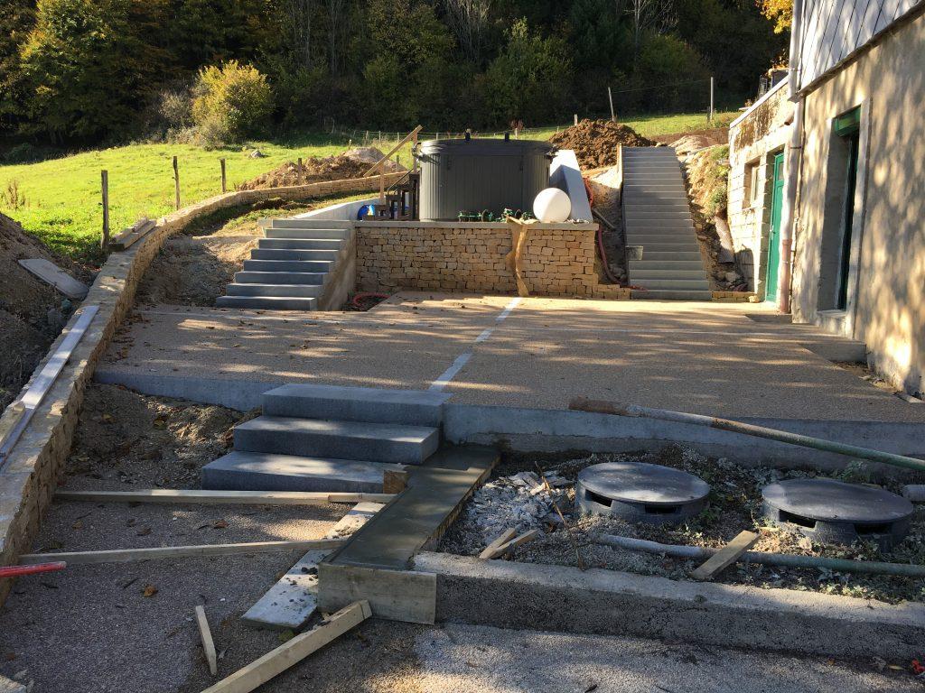 Réalisation des escaliers